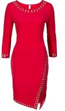 Crvena haljina sa slicem i cirkonima