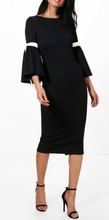 Dnevna haljina sa 3/4 rukavima i masnicama