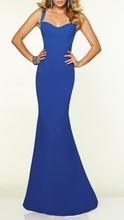 Duga plava haljina na bretele