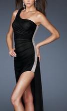 Crna duga haljina sa sljokicama