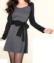 Sivo crna dnevna haljina