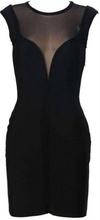 Crna haljinica sa mrezicom