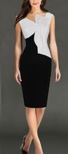 Crno bela haljina sa masnom