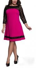 Ciklama haljina sa detaljima cipke