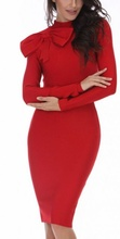 Crvena haljina sa masnom