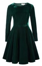 Dnevna maslinasta haljina od plisa