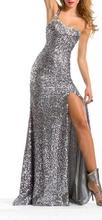 Duga srebrna haljina
