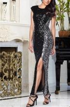 Sljokicava crno srebrna haljina