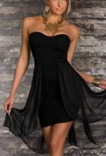 Neobicna crna haljina sa mrezicom