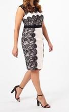 Bela haljina sa detaljima crne cipke