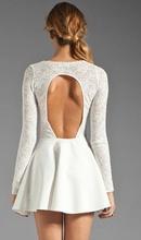 Bela cipkasta haljina sa golim ledjima
