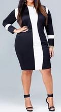 Belo crna haljina za punije dame
