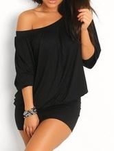Crna haljinica  jedno rame