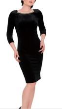 Crna i bordo haljina od plisa sa cirkonima