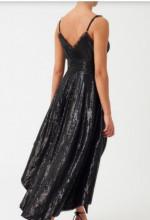 Crna svecana haljina sa masnom