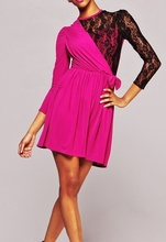 Crno-roze haljina