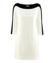 Dnevna haljina crno bela