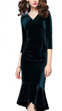 Dnevna haljina sa falticama od plisa
