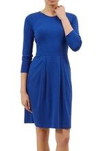 Kraljevsko plava haljina sa gloknom i faltama