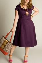 Ljubicasta dnevna haljina sa falticama