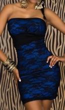 Plava haljina sa cipkom