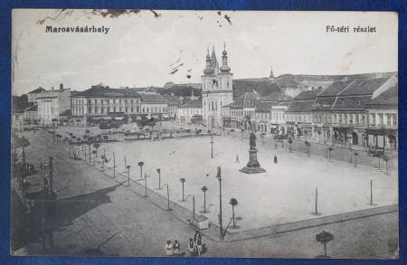 1915 - Targu Mures, centru, vedere circulata (jud. Mures)