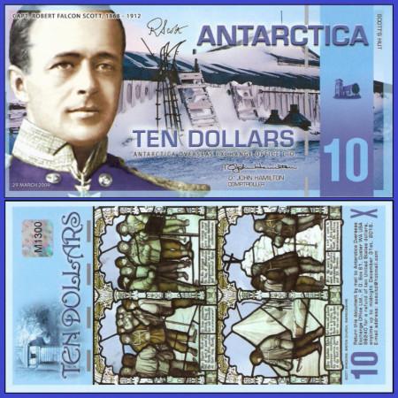 Antarctica 2009 - 10 dollars UNC