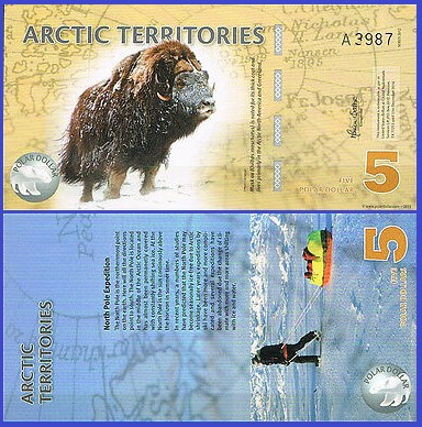 Antarctica 2012 - 5 dollars, necirculata