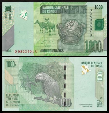 Congo Democratic 2013 - 1000 francs, necirculata