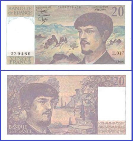 Franta 1986 - 20 franci UNC