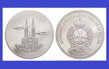 Malta 2004 - 100 lire, proof - Austria in UE