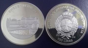 Malta 2004 - 100 lire, proof - Suedia in UE