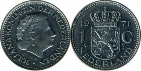 Olanda 1971 - 1 gulden, circulata