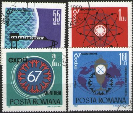 Romania 1967 - Expo '67 - Montreal, serie stampilata