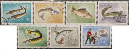 Ungaria 1967 - pescuitul, serie stampilata