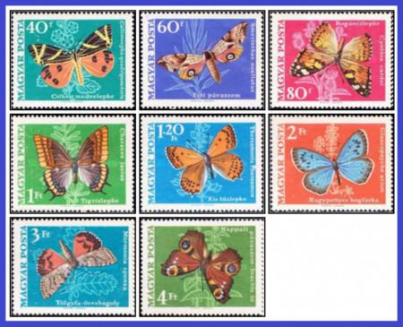 Ungaria 1969 - fluturi, serie neuzata