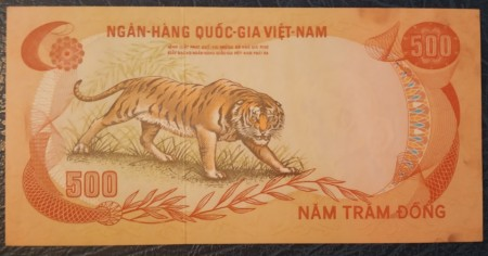Vietnam Sud 1972 - 500 dong, XF