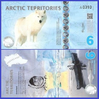 Antarctica 2013 - 6 dollars, necirculata