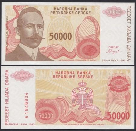 Bosnia Hercegovina 1993 - 50.000 dinari, necirculata
