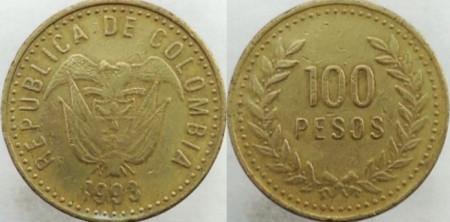 Columbia 1993 - 100 pesos, circulata