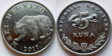 Croatia 2017 - 5 kuna, circulata
