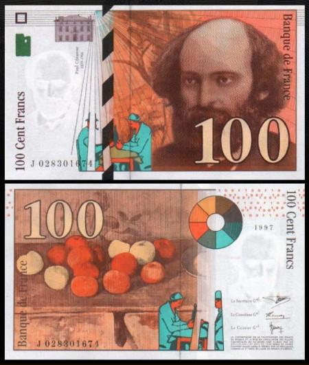 Franta 1997 - 100 francs, circulata