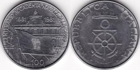 Italia 1981 - 100 lire, circulata comemorativa