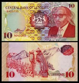 Lesotho 1990 - 10 maloti, necirculata