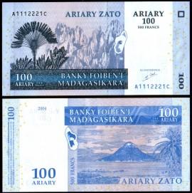 Madagascar 2004 - 100 ariary, necirculata
