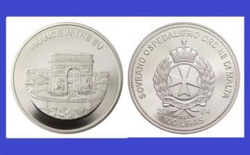Malta 2004 - 100 lire, proof - Franta in UE