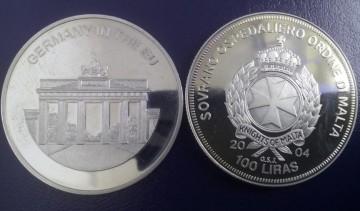Malta 2004 - 100 lire, proof - Germania in UE