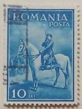 Romania 1932 - Carol II - călare, stampilata