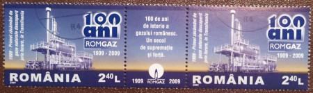 Romania 2009 - ROMGAZ - 100 de ani, stampilata