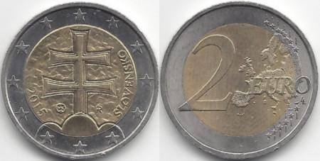 Slovacia 2015 - 2 euro, circulata